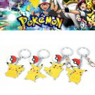 Buy 4pcs Cute Cartoon Pokemon Anime Pikachu Style Key Ring Keychain Pendant Keyring Metal Figure To