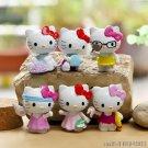 Buy 6Pcslot Anime Cartoon Seabeach HELLO KITTY Figures Kitty PVC Cut Action Figure Toys Model Dolls