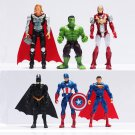 Buy 6pcslot The Avengers Figures Super Hero Toy Doll Baby Hulk Captain America Superman Batman Thor