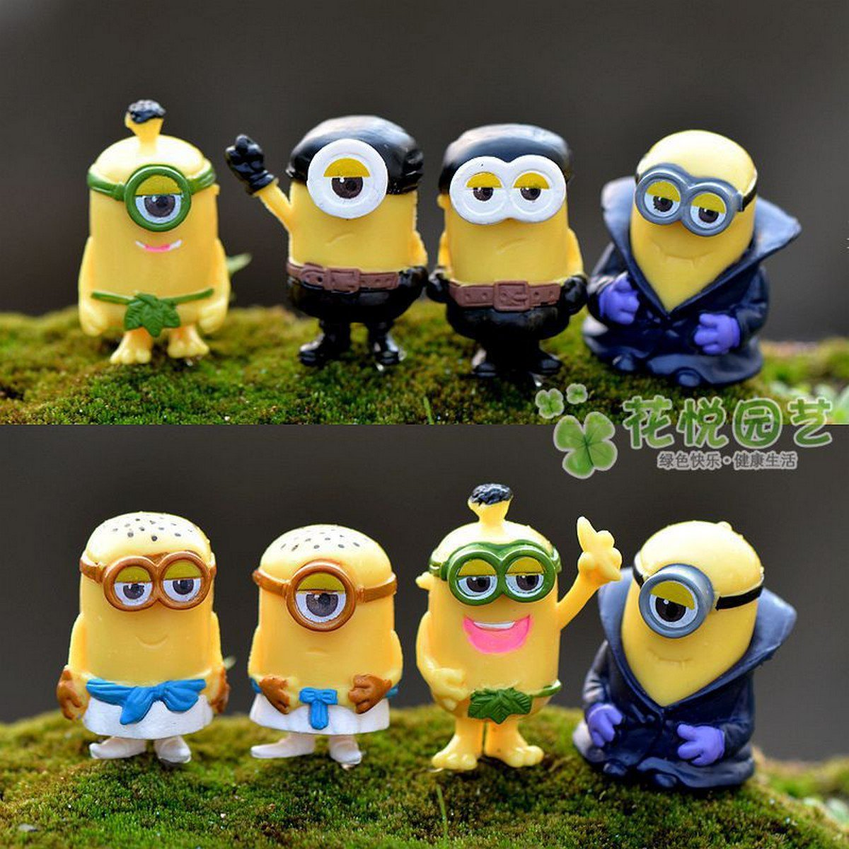 Buy 8Pcslot Fashion Cartoon Despicable Me 2 Minions Decoration Toy 3D Eye Mini Moive Star Figure To