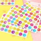 Buy 10 Sheetsset Cute Emoji Smile Face Sticker, Kindergarten Encourage Children Wall Iphone Sticker