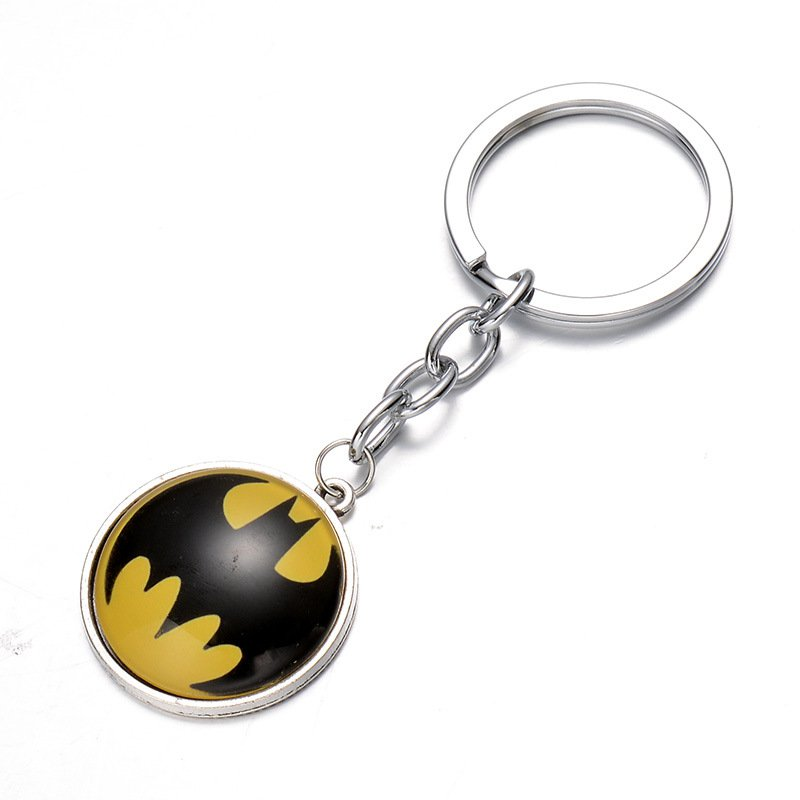 Buy Super Hero Batman Time Gem Pendant Key Chain Ring Metal Avengers Action Figures Toys Gife For F