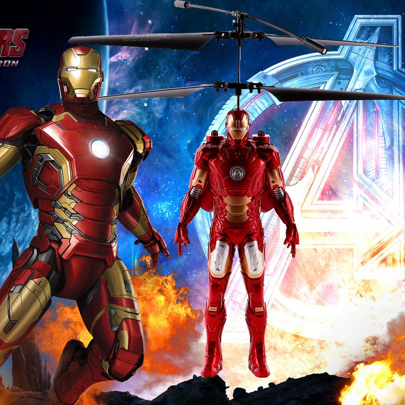 Buy Suspension Induction Flight The Avengers Iron Man Remote Induction Control Helicopter  Inductio