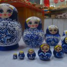 Buy Hot Sale 14.5x 11cm Limited Edition 10PcsSet Wooden Russian Nesting Dolls  Hand Made Delicacy D