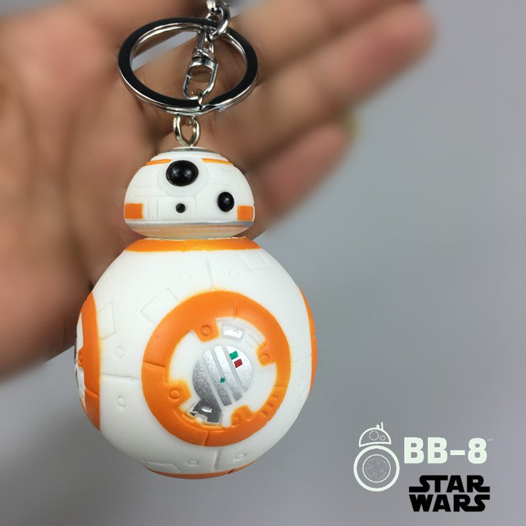 Buy HOT! 7cm Heigh Reduction Keychain New Star Wars The Force Awakens BB8 BB 8 Droid Robot Action F
