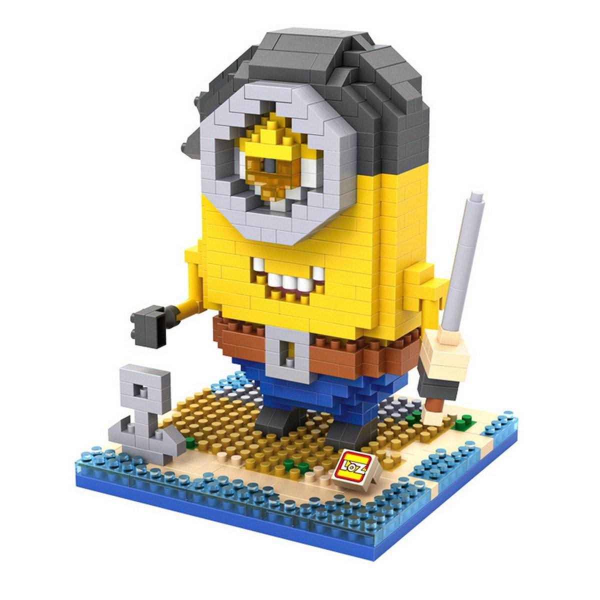 Buy 11cm Me 2 3D Minions Anime Pirate  Worker  Minions Diamond block Building Blocks Figures Model