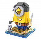 Buy 11cm Me 2 3D Minions Anime Pirate  Worker  Minions Diamond block Building Blocks Figures Model