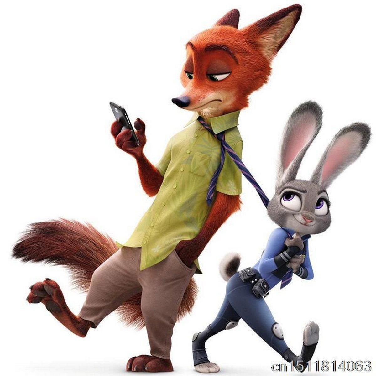 Buy 35CM Anime Zootopia Plush Rabbit JUDY Hopps Fox Nick Wild Toys For Baby Kids Dolls from Reliabl