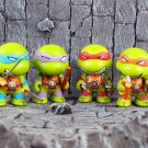 Buy 4pcsset Q version Teenage Mutant Ninja Turtles Anime TMNT action figures Toys Brinquedos Michel