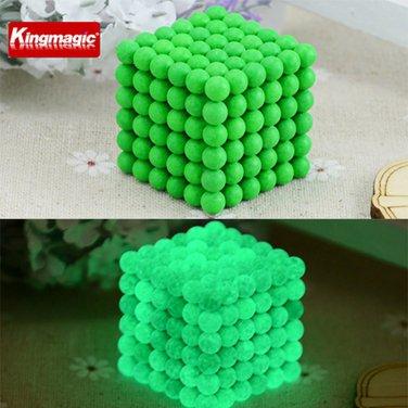 Buy 5mm 216pcs , 6pcs  Neodymium Cube Magnetic Balls Fluorescence Light  Noctilucent 6 x 6 x 6 Neo