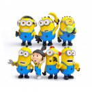 Buy 7Pcslot Fashion Cartoon Anime Despicable Me 2 Minions Decoration Toy 3D Eye Mini Moive Action F