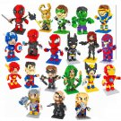 Buy Avengers Q Version Super Hero Diamond Mini figures Building Blocks toy Bricks Deadpool Superman