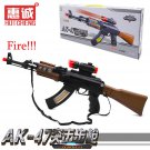 Buy Cool! Military Model Assault Rifle AK47 Classic Famous Toy Gun Light Music Electric Shock Remov