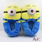Buy Cute! Cartoon Despicable Me 2 Minions Plush Stuffed Shoes Toy Single Eye Minions Moive Star Lov