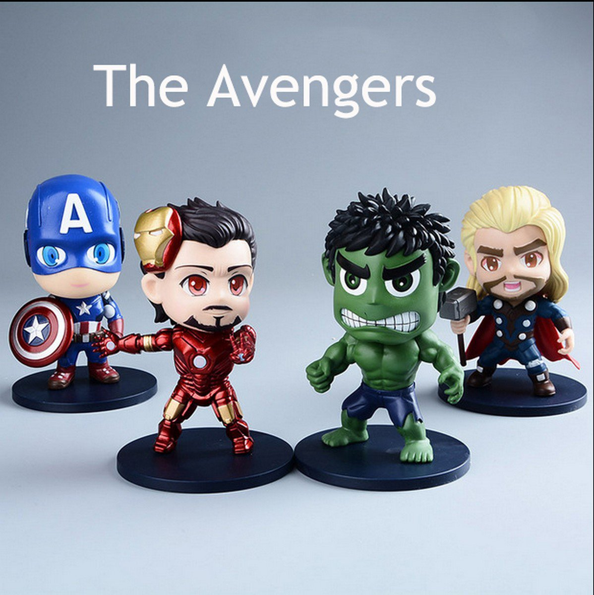 Buy H Q Super Hero The Avengers Q Version Figures ToyThor Captain America Hulk Iron Man Ant Man Fig