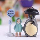 Buy 3pcsset Totoro Garden Miniatures Terrarium Figurines Hayao Miyazaki Toys Resin Crafts Garden Ac