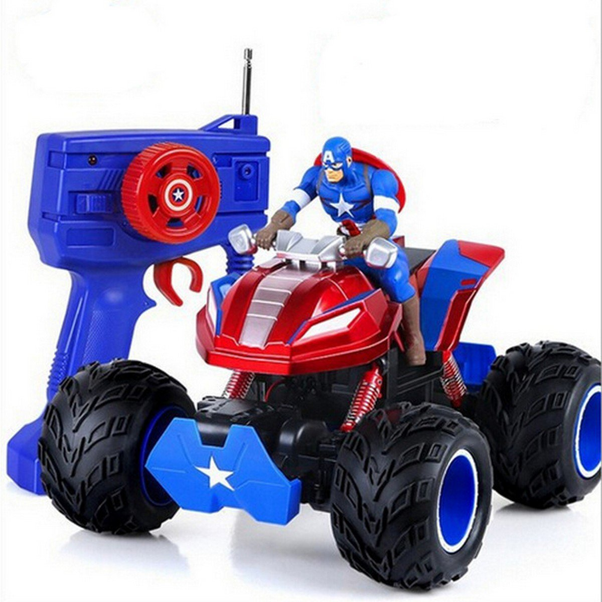Buy NEW!M005 Marvel Captain America Double Motor Remote Control Car RC SUV Off road Climbing Car Di