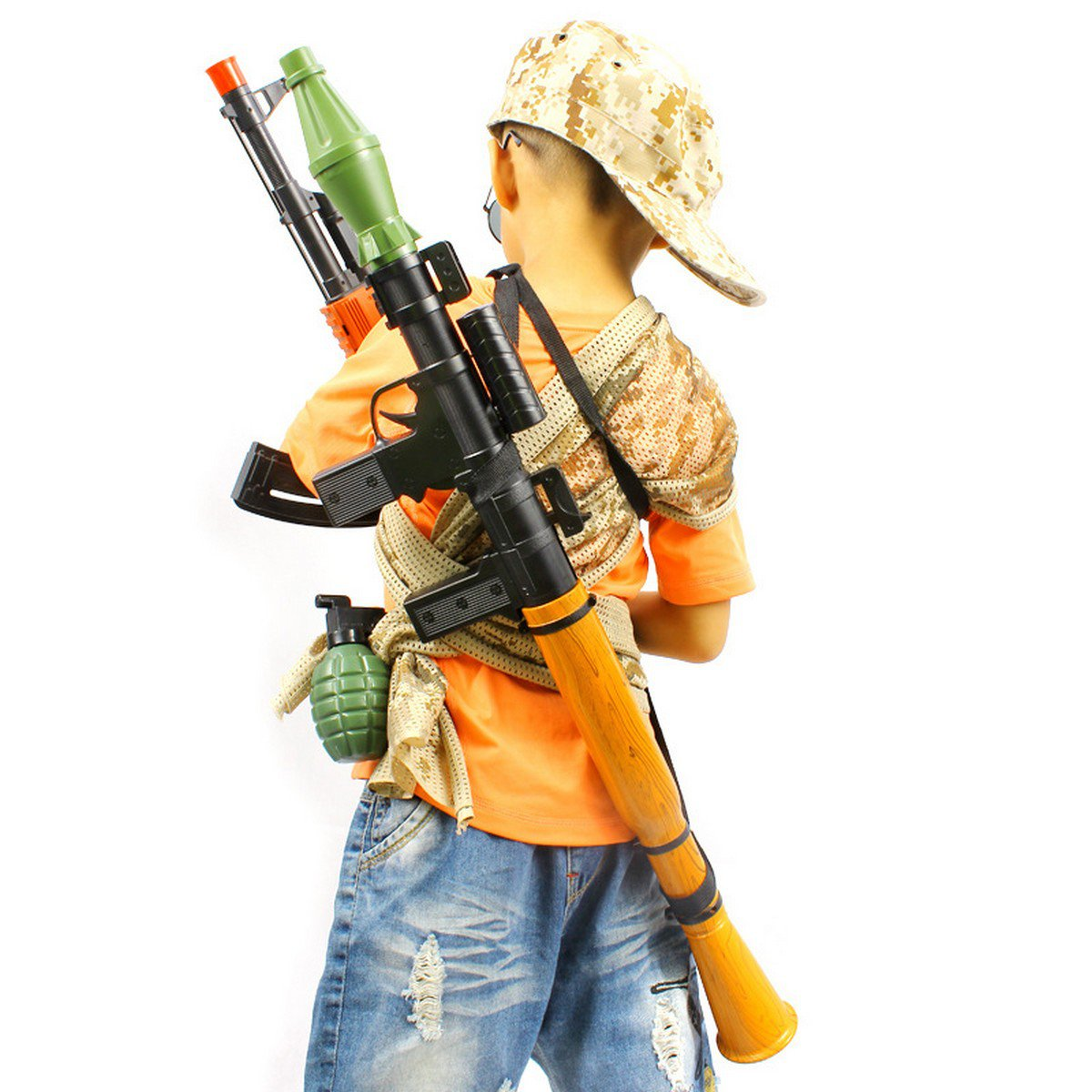 Buy Rocket Gun Rocket Launcher Toy Submachine Gun Soft Bullet Pistol Gun Airgun For Kids Gift Cs Ga
