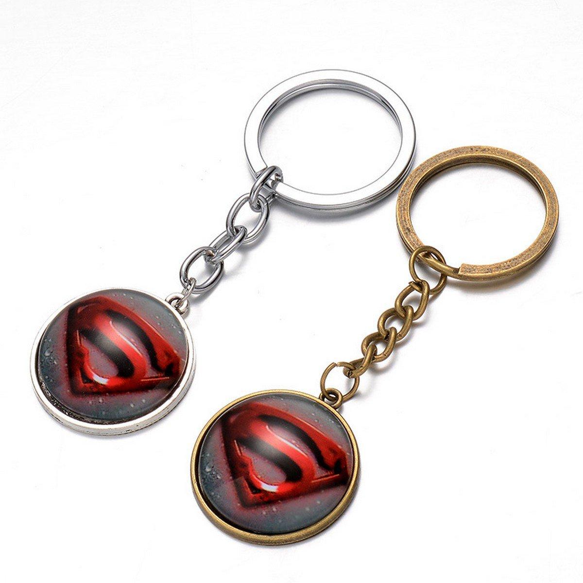 Buy Super Hero Superman Logo Pendant Key Chain Ring Metal Avengers Action Figures Toys Gife For Fri