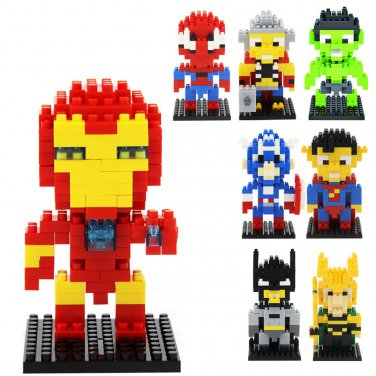 Buy The Avengers Marvel Super Heroes Captain America, Iron Man,Hulk Mini figures Building Block Toy