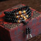Buy 108 Agate with Tigers eye Bracelet Black Onyx Stone Tibetan Silver Buddha Bracelet for Women Me