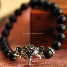 Buy Fashion Delicacy Hot Selling Nice Looking Black Beads BraceletsBangle for Women Silver Fox Rhin