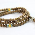Buy High quality Wood beads Vintage Wenge Natural Wood 6MM Beads Bracelets Men handmade 108 Buddha