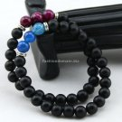 Buy Natural Matte Stone Bracelet 8MM Round Stripe Agate Gem Stone Bracelet Bangles Elastic Beads Br
