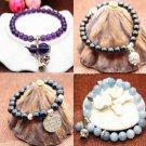 Buy Pick Style: Korean Fashion New Agate Beads Bracelet Bracelet PinkBlue Crystal Bracelet for Wome