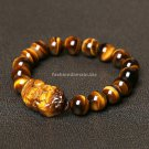 Buy Top Quality Fashion Natural Tigers eye mythical Men Bracelets 10MM Beads Bangle for Women Charm