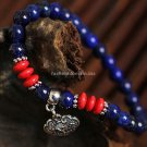 Buy Wholesale and retail 4mm AAA grade natural stone lapis lazuli bead Shamballa bracelet Tibetan s