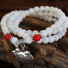 Buy Wholesale High Quality Hainan Natural White Shell Beads Stone Pine Tibetan silver Women Bracele