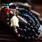Buy Wholesale Religion Jewelery Buddha head Black Onyx Resin Crystal Multilayer Amulets Bracelets M
