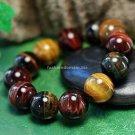 Buy Wholesale Religion Jewelery High Quality Natural Tiger Eye 15mm Bead Buddha Bracelets Men  Wome