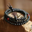 Buy Wholesale Red  Black Sandalwood Separated beads Long Wooden Chains Buddha Bracelets 108 Women