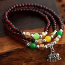 Buy Wholesale Thai Style Amulets Idol Accessories Garnet Beads Tibetan silver Color Resin Multiturn