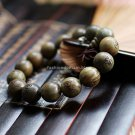 Buy Fashion Natural Green sandalwood 15mm Big Beads Carved Buddha Bracelet Men  Women Gift Wholesal
