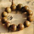 Buy Wholesale Tibetan Jewelery Green sandalwood Carved statues Chunky Bead Buddha Bracelet 20mm Men
