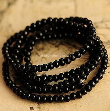 Buy Wholesale Tibetan Jewelery Natural Black Sandalwood Chunky Bead Carved Buddha Multiturn Buddha