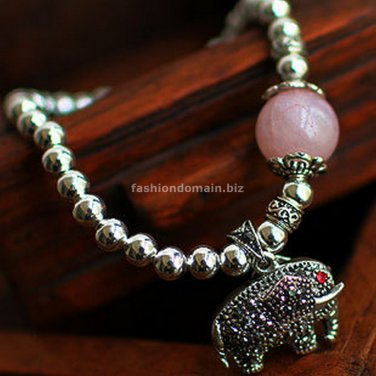 Buy  New Hot Fashion High Quality 925 Sterling Silver Beads Hollow out Elephant Bracelets for Women