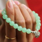 Buy  New Hot Fashion High Quality Natural Grape Chalcedony 7mm Beads Bracelets for Women Sterling S