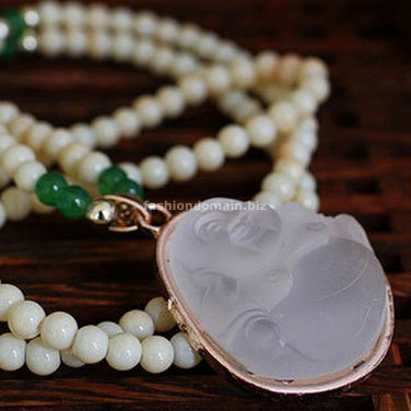 Buy Beads Synthetic Tridacna Alloy Mosaic Synthetic translucent frosted gems Green Agate Tatu Buddh