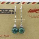 Buy Fashion Bohemian Vintage Ethnic Tibetan silver Malachite Beads Small Dangle Earrings For Women