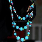 Buy Fashion Multilayer Long Turquoise beads shell Sweater Chain Joker Necklace  For Women Ethnic Je