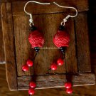 Buy Fashion National Vintage Accessories Lucky Jewelry Fish Red Coral Women Earring Agate Long Earr