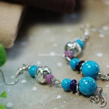 Buy Wholesale Tibetan Refinement Tibetan silver Turquoise Beads Bone Shell Earring Women Handmade G