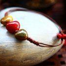 Buy Fashion Waxed thread Heart Ceramics Beads Weave Bracelets Women Colorful Gift Simple Handmade W
