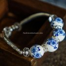 Buy Handmade DIY Crystal Beads Chinese JDZ Chinaware Handmade Tibetan Silver Jewelry for Women Rope