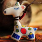 Buy Hot Vintage Cut Cartoon Ceramics Giraffe Pendent Necklace for Women Fashion Women Necklace Gift