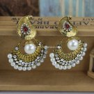 Buy Indian Vintage Accessories Retro Pearl Rhinestone Crystal Beaded Ethnic Style Earrings for Wome
